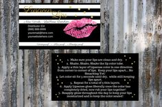 Luscious Lips   Business Cards      Personalized    Printable   Download by ShesBackAtIt on Etsy