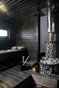 Contemporary Finnish sauna by house building company Kannustalo | Suomen kauneimpia Koteja by lala
