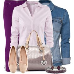 """Purple Jeans Contest #1"" by angkclaxton on Polyvore"