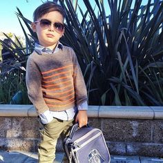 Impeccable and incomparable might not be easy words for this to spell, but that's exactly how we would describe little Alonso Mateo. Little Boy Outfits, Little Boy Fashion, Kids Fashion Boy, Toddler Fashion, Baby Boy Outfits, Kids Outfits, Girl Fashion, Stella Mccartney, Kid Swag
