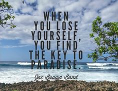 When you lose yourself, you find the key to #paradise. #ZacBrownBand
