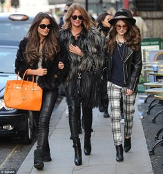 Here come the girls! Binky Felstead, Millie Mackintosh and Rosie Fortescue got to work shooting the upcoming fifth series of Made In Chelsea in Camden, north London, on Sunday