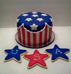 #4thofJuly #Cake and #cookies
