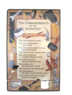 10 Commandments of My Workshop!