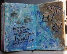 art journal page - summer