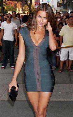 Hot Celebrity Style Bandage Full-Length Zipper Front Party Dress #celebritystyle