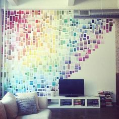 Wall art with paint cards... Very cool