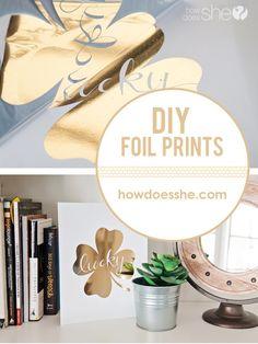 Easy DIY Gold Foil Prints - something anyone can do  (Laser printer, toner reactive foil, laminator)