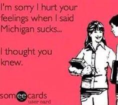 True Michigan State or Ohio State Fan Buckeyes Football, Football Memes, Ohio State Football, Ohio State Buckeyes, College Football, Football Art, Football Season, Ohio State Michigan, Ohio State University