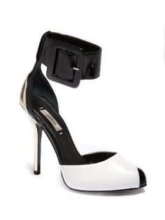 Now here is the white edition to complete the collection. GUESS Women's Remonia White Multi Leather Peep-Toe Shoes