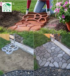 Free shipping Path mate DIY Stone Pavement mold for making pathways for your garden / paving mold/pathmate concrete mold-in Garden Ornaments from Home & Garden on Aliexpress.com | Alibaba Group