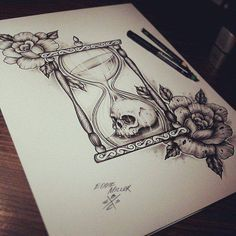ampulheta, cool site with drawings for tattoo ideas