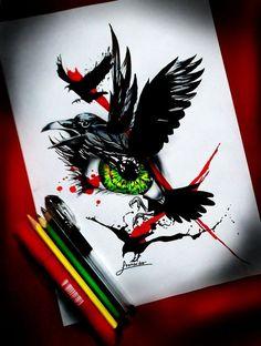 08-01-2016-ojo cuervo  por LeonardoRR - Fantasía | Dibujando.net
