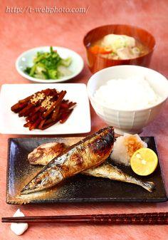 Japanese food / Grilled Sanma サンマ定食