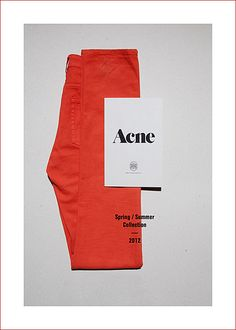 Acne I think the name and the use of the red-ish orange color make this eye-catching in a strange way December 2013 Tool Design, Layout Design, Design Art, Print Design, Editorial Layout, Editorial Design, Editorial Fashion, Graphic Design Posters, Graphic Design Inspiration