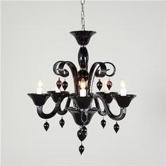 Classic Murano Glass Chandelier - 5 Light (4 Colors!)
