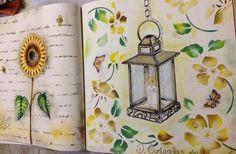 Candle Secret Garden. Vela Jardim Secreto. Johanna Basford