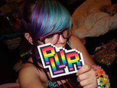 blue and purple hair rainbow plur Small Moments, Purple Hair, Rave, Rainbow, Raves, Rain Bow, Rainbows, Lilac Hair, Violet Hair