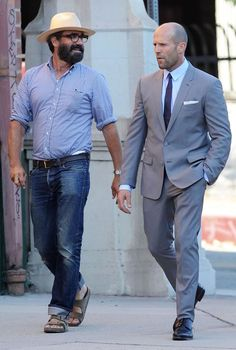 Jason Statham, French GQ magazine, los angeles, grey suit
