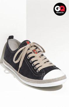 Sneaker styling .. Prada Low Profile Espadrille Sneaker #Nordstrom #GQSelects
