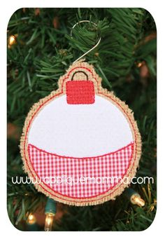 Bobber Ornament Applique Design