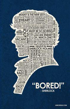 Sherlock. Bored. Word head
