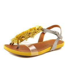 Loving this Yellow Leather Bless Summer Sandal on #zulily! #zulilyfinds