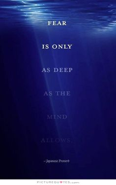 Fear is only as deep as the mind allows. Picture Quotes.