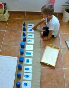 Cuerpos geométricos en concreto para niños