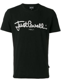 JUST CAVALLI Logo Print T-Shirt. #justcavalli #cloth #t-shirt