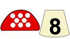 Математические мухоморчики Math Games, Math Activities, Numbers Preschool, Busy Book, Kindergarten, Crafts For Kids, Language, Learning, Preschool Math