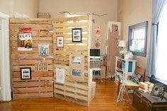 Sharing Space? • DIY Room Dividers • Ideas & Tutorials! This would be great for kids rooms!