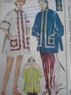Misses' Coat for Beach or Evening. Costume Patterns, Coat Patterns, Swimsuit Pattern, Vintage Sewing Patterns, Pattern Fashion, Lounge Wear, Vintage Fashion, Lingerie, Lady