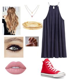 """school pt63637"" by chloem1345 on Polyvore featuring Converse, Michael Kors, Kate Spade and Lime Crime"