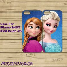 iphone 5 case,cute iphone 5 case,iphone 5 cases,iphone 4 case,iphone 4s case,cute iphone 4 case--Frozen,Anna,Elsa,in plastic,silicone. by Missyoucase, $25.99