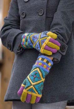 Ravelry: Kilm Gloves pattern by Kristin Nicholas