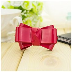 Douqu 2 Pcs Fashion 6 Color Syntheic Leather Bow Butterfly Shoe Clips Handmade Shoe Buckle for Women Wedding Prom Party Red * You can get more details by clicking on the image.Note:It is affiliate link to Amazon.