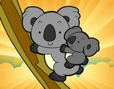 Baby Koala Machine Embroidery Design Multiple Formats Available