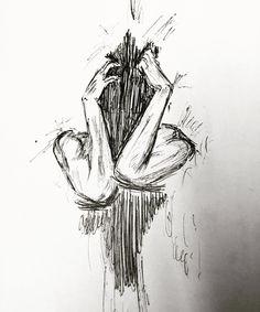 Creepy Drawings, Creepy Art, Art Drawings, Sketch Painting, Drawing Sketches, Sketching, Aesthetic Drawing, Aesthetic Art, Drawing Feelings