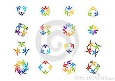 Teamwork Logo, Social Team work education illustration modern Network symbol icon logotype set vector design - http://www.dreamstime.com/stock-photography-image59456524#res7049373