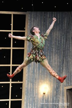 Ashley Dixon in David Nixon's Peter Pan. Photo Alastair Muir.   northernballet.com/peterpan