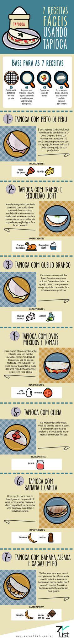 @cabidecolorido #sevenlist #infográfico #infographic #list #lista #illustration #receitas #tapioca #receitasdetapioca #alimentação #bemestar #fitness #saudável #peitodeperu #tapiocacompeitodeperu #frangocomrequeijão #tapiocacomfrangocomrequeijão #queijobr