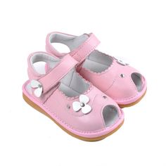 Caroch   Flora   Peep toes Super sweet pink peep toe leather girls shoes from Caroch.