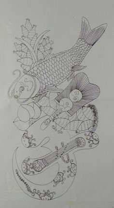 Korean Crafts, Chinese Embroidery, Korean Art, Chinese Art, Folk Art, Coloring Pages, Pattern Design, Art Drawings, Doodles