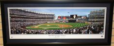 "New York Yankees Inaugural Opening Day 42"" x 18"" Framed and Matted Stadium Panorama"