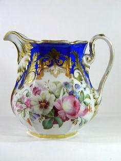 Old Paris Porcelain Antique Milk Pitcher