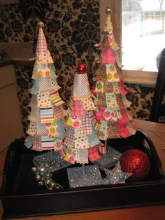 Funky Paper Christmas Trees