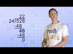 Math Antics - Long Division with Divisors - Fun Clip Videos Teaching Long Division, Math Division, Teaching Math, Teaching Ideas, Kindergarten Math, Teaching Tools, Math Help, Fun Math, Learn Math