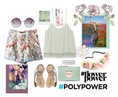 """""""flowerpoly power"""" by amayad-14 ❤ liked on Polyvore featuring LAQA & Co., Rebecca Minkoff, L*Space, Monki, Universal Lighting and Decor, Polaroid, flowerpower and PolyPower"""