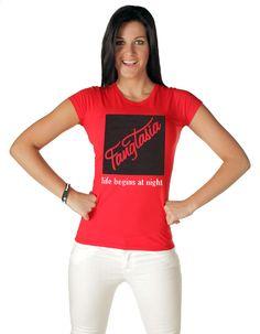 True Blood Fangtasia Life Begins At Night Red Juniors T-Shirt
